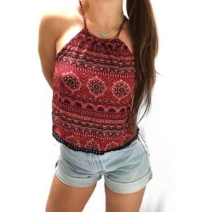 F21• High Neck Tank geometric Patterned